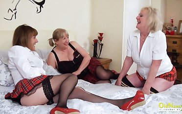 OldNannY Three Homoerotic British Mature Pornstars