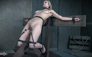 BDSM sex play leads the busty slave girl all over insane orgasms