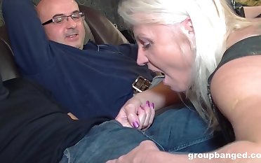 Mature blonde wife fucked by their way husband and his best affiliate