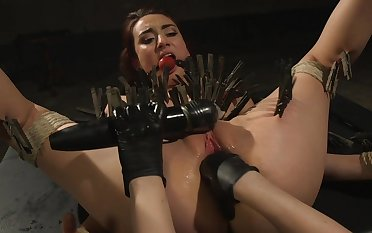 Clamped bitch ass fucked apart from say no to dominant feathers