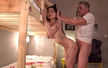 Older man gives Rae Lil Black the ultimate hardcore fuck