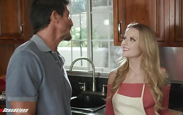 Stepdad can't resist a young woman's seduction and she's got such a nice ass