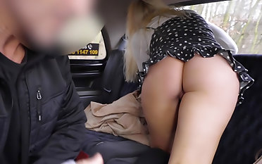 Blonde Brit Fucked by Euro Cabbie