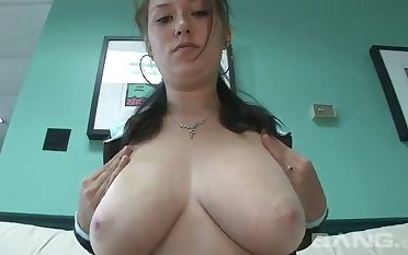 My cock is throbbing with lust to do some damage to her huge breasts