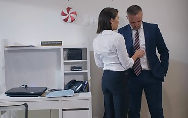 Fucking in the office with hoof it Hyperbolic sports jargon pulverize secretary Adriana Chechik