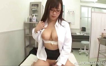 POV video of doctor Mashiro Yuuna having sex with will not hear of holder