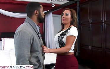 Super sexy realtor nigh massive boobs Richelle Ryan bangs young black guy