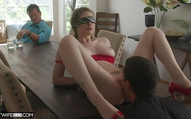 Cuckold with the blind paired wife