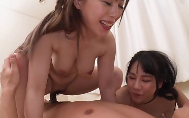 Nice asians threesome Hard Degraded