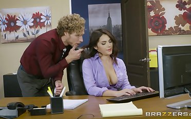 Office fucking excites sultry spoil Valentina Nappi immensely