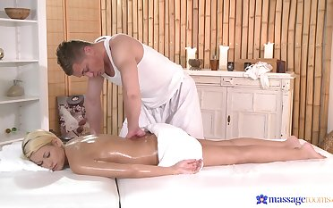 Hot ass blondie Yenna Black massaged with the addition of fucked from behind